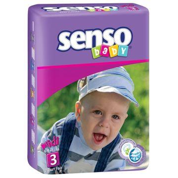Подгузники Senso Baby Midi (4-9 кг) 70 шт