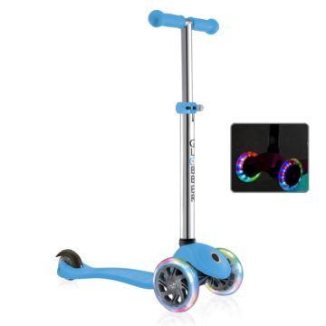 Самокат Globber Primo с 3-мя светящимися колесами (голубой)
