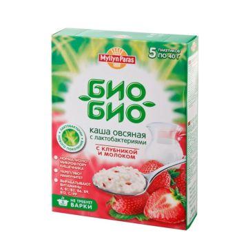 Каша Myllyn Paras овсяная с клубникой и молоком Био-Био 200 г