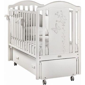 Кроватка детская Feretti Privilege Swing (продольный маятник) (белая)