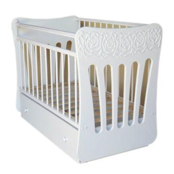 Кроватка детская Островок Уюта Розали (поперечный маятник) (белый)