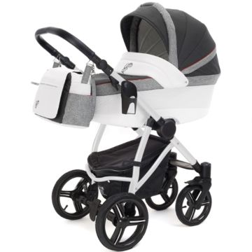 Коляска 3 в 1 Esspero Grand Newborn Lux White Royal Grey