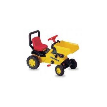Трактор на педалях Coloma Dumper с ковшом (красный)