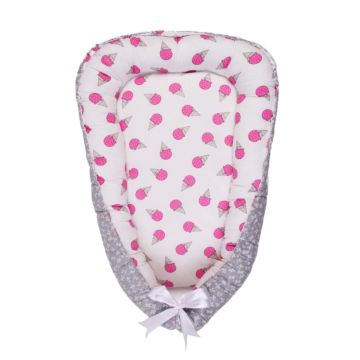Кокон-гнездо для сна AmaroBaby Sweet Baby (мороженки)