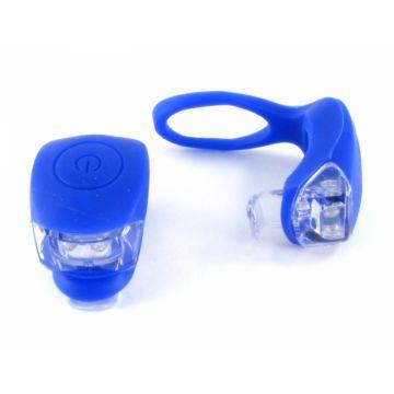 Комплект из двух фонариков на руль Vinca Sport (синий)