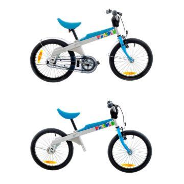 """Беговел-велосипед (2 в 1) Rennrad 18"""" (синий)"""