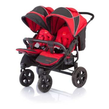 Коляска прогулочная для двойни Baby Care Cruze DUO (Red)