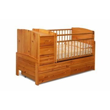 Кроватка-трансформер Noony Wood Chalet (поперечный маятник) (медовый)