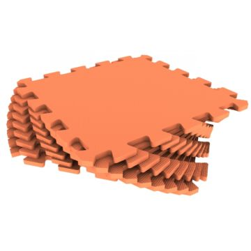Мягкий пол Экополимеры 33*33 (оранжевый)