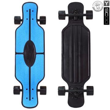 "Лонгборд Y-Scoo Fish Skateboard TIR 31"" с сумкой (blue/black) ДИСКОНТ"