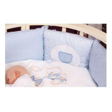 Комплект постельного белья Incanto Прогулка (6 предметов, сатин) (голубой)