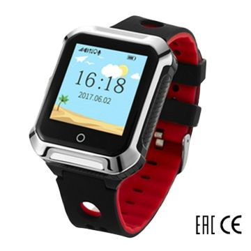 Детские часы с GPS-трекером SmartBabyWatch W10 (черный)