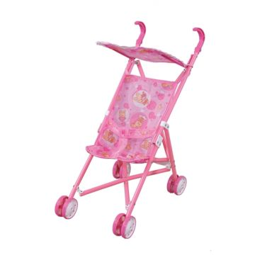 Коляска для куклы Fei Li Toys трость (розовая) FL6066-AC