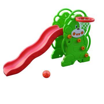 Горка детская с баскетбольным кольцом QiaoQiao Toys (Мишка)