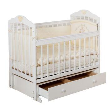 Кроватка детская с ящиком Incanto Pali (поперечный маятник) (слоновая кость)