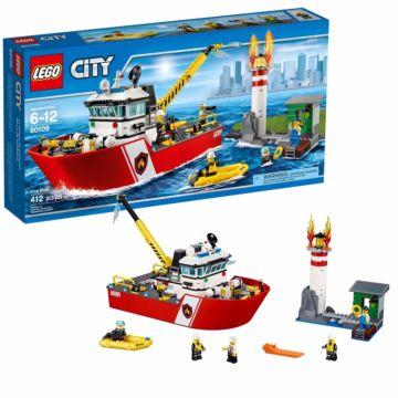 Конструктор Lego City 60109 Город Пожарный катер