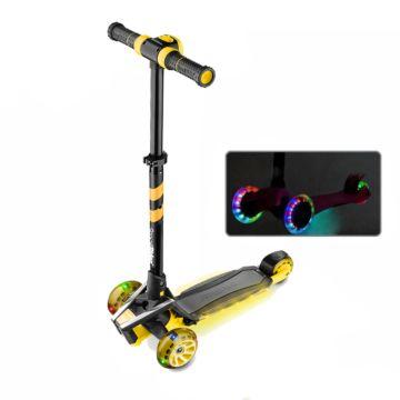 Самокат Small Rider Premium Pro со светящимися колесами (желтый)