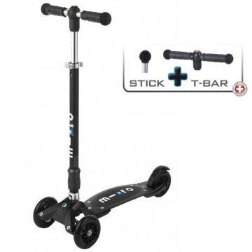 Самокат Micro Kickboard Compact Stick+T-tube (черный)