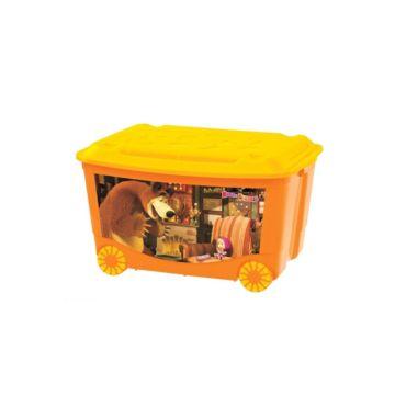 Корзина для игрушек Бытпласт 3 (Оранжевый)