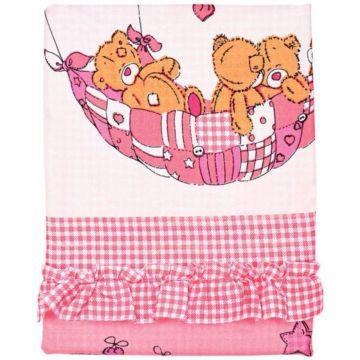 Комплект постельного белья Луняшки Баю-Бай 150х110см (3 предмета, шатель) (розовый)