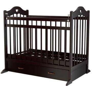 Кроватка детская Briciola 12 с поперечным маятником (темная)