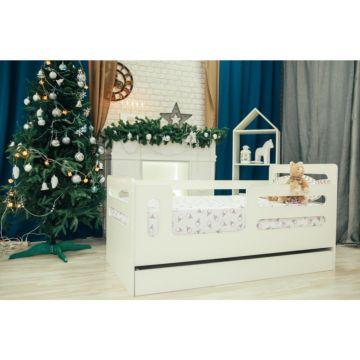 Кроватка детская Мир Мебели (белая)