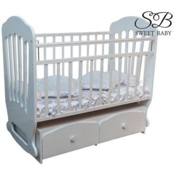 Кроватка Sweet Baby Sorriso с поперечным маятником (Белый)