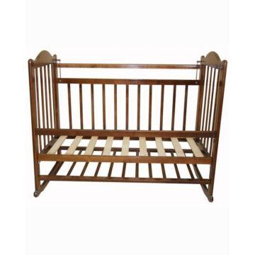 Кроватка детская Мой малыш Ивашка 1 (качалка-колесо) (коричневый)