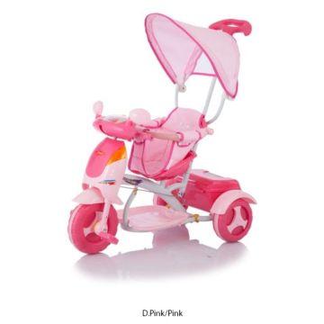 """Трехколесный велосипед Jetem Formica с ПВХ-колесами 10"""" и 8"""" (розовый)"""