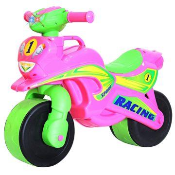 Беговел-мотоцикл RT Motobike Racing со светом и сигналами (розовый)