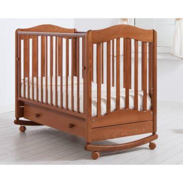 Кроватка детская Гандылян Ванечка (качалка-колесо) (вишня)