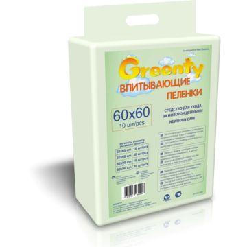 Пеленки одноразовые Greenty 60х60см (31 шт)