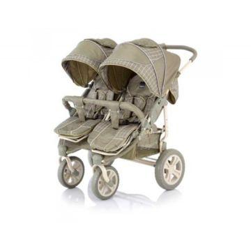 Коляска прогулочная для двойни Baby Care Cruze DUO (Oliva Cherker)