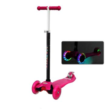 Самокат MaxCity Tiny со светящимися колесами (pink)