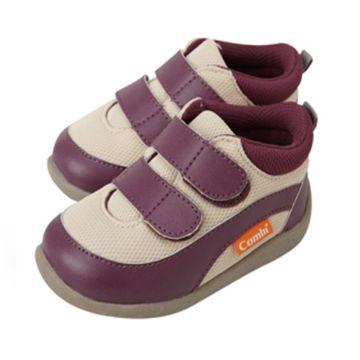 Ботинки Combi Baby Sneakers (кремово-бордовые)