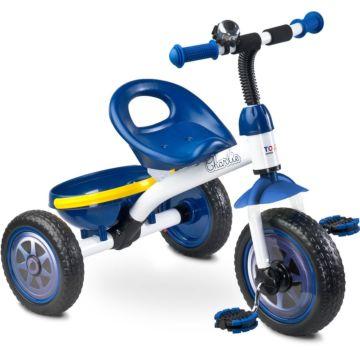 """Трехколесный велосипед Toyz Charlie с ПВХ-колесами 10"""" и 8"""" (голубой)"""