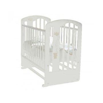 Кроватка детская Можга Агата (поперечный маятник) (белый)