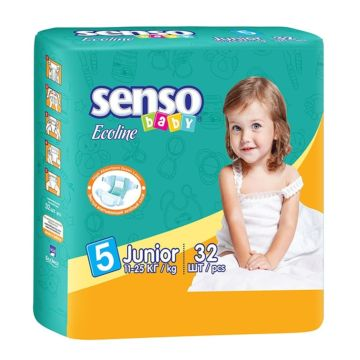 Подгузники Senso Baby Ecoline Junior (11-25 кг) 32 шт