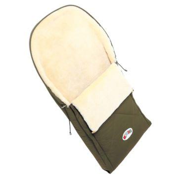Меховой конверт для коляски Кроха Double Khaki