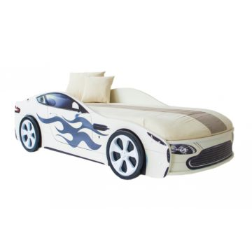 Кровать-машина Бельмарко Бондмобиль (белый)
