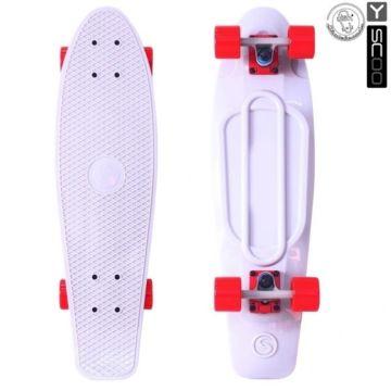 "Мини-круизер Y-Scoo Fish Skateboard 27"" с сумкой (белый)"