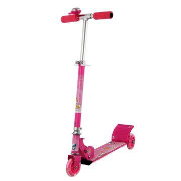 Самокат MaxCity Kitty со светящимися колесами (pink) ДИСКОНТ