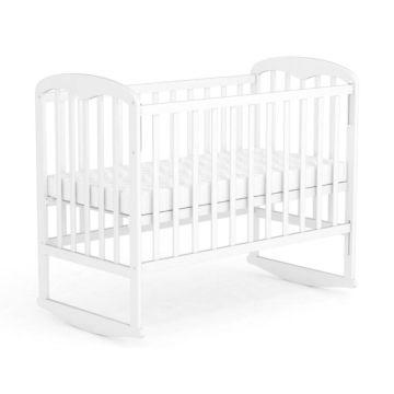 Кроватка детская Фея 323 светлая (качалка-колесо) (Белый)