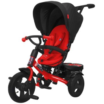 """Трехколесный велосипед RT Icon Elite New Stroller с надувными колесами 11"""" и 9"""" (black brilliant)"""