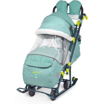 Санки-коляска Ника Детям 7-3 (зеленый)