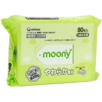 Влажные салфетки Moony 80 шт.