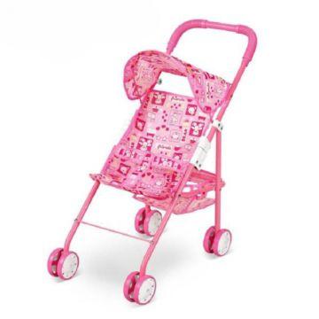 Коляска для куклы Fei Li Toys трость (розовая) FL6067-B