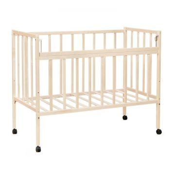 Кроватка детская ВДК Magico-Mini (колесо) (слоновая кость) ДИСКОНТ (сломана решетка по линии склейки, пригодно для починки)