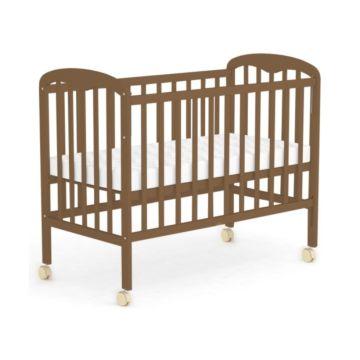 Кроватка детская Фея 323 (качалка-колесо) (Орех)