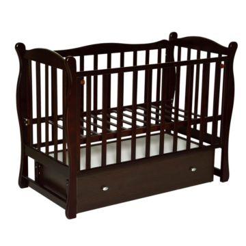 Кроватка детская Кедр Любаша 6 (поперечный маятник) (шоколад)